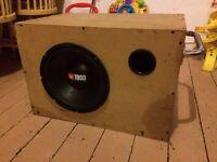 """12"""" Ported BASS BOX ONLY! (Alpine JBL Kicker JL Hifonics Rockford )"""