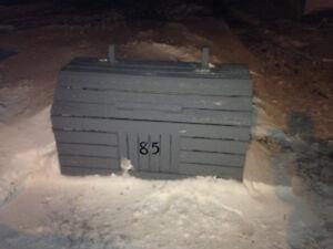 Wooden garbage bin
