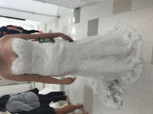 Lace wedding dress-never worn but to try on