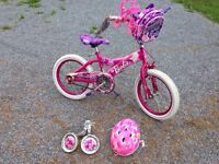 """Girls 16"""" Barbie Bicycle with Accessories"""
