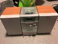 Sony Stereo CD radio Cassette with two speakers and remote control