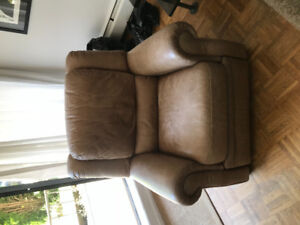 Free leather recliner chair