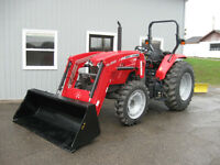 MASSEY FERGUSON 4608 64 PTO HP TRACTOR WITH LOADER