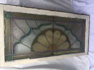 Honest Ed's Vintage Stained Glass Window