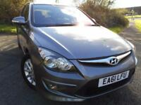 2011 61 HYUNDAI I30 1.6 COMFORT 5D AUTO 124 BHP ** 1 PREVOUS OWNER ONLY 40 K **