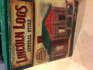 Lincoln logs building toy.