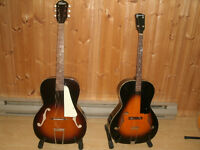 PACKAGE DEAL ONLY. 2 ARCHTOPS ,1957 KAY & 1930 KALAMAZOO w CASE