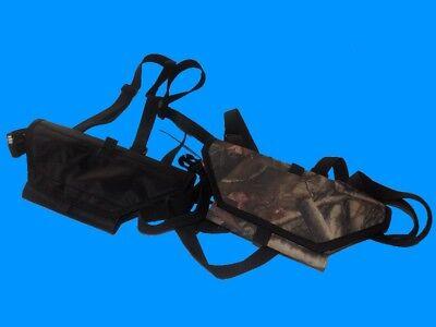 Minelab Excalibur II Metal Detector Chest Mount  Kit. Headphone Cushion! Black!