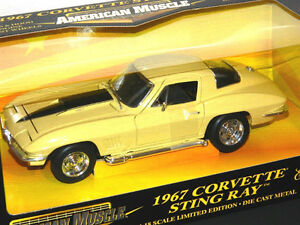 Ertl 1/18 1967 Chevrolet Corvette Stingray Diecast Car Yellow