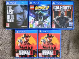 PS4 Last Of Us 2 Lego Batman 3 Black Ops 3 Red Dead Playstation