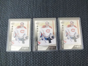 2009-10 UD BLACK DIAMOND TRIPLE CAREY PRICE x3 HABS