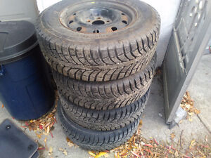 4 215 70r15 winter tires and rims
