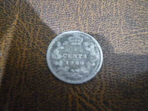 Vintage Canadian 1880-H, 5 Cent Coin Very Good Condition!