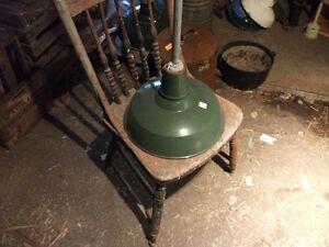 Vintage Green porcelain coated lamp shades Belleville Belleville Area image 1