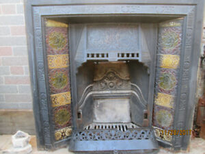 Antique Fireplace w/English Tiles