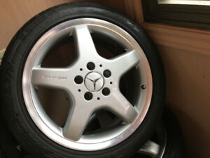 Like New! Mercedes original AMG wheels & tires 17""
