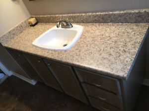 Bathroom Cabinet and New Laminate Countertop