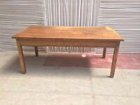 Antique pine kitchen table vintage