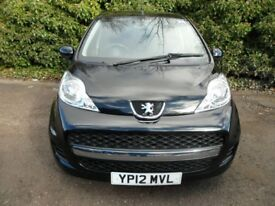 2012 Peugeot 107 1.0 12v Urban 5dr LOW MILEAGE, ONE OWNER FROM NEW Car Finance CHEAP CARS LEICESTER