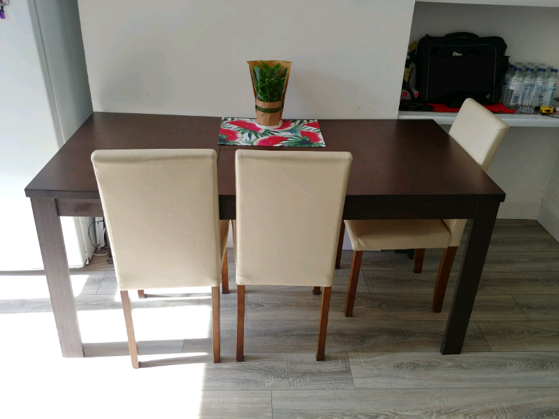Table With Cream Chairs Folding Dining