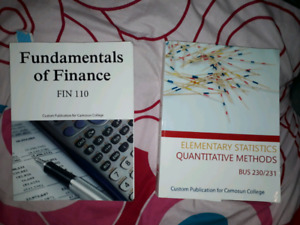 Finance 110 and Bus 230 new unused texbooks