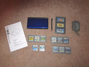 Nintendo DS Lite Blue with games