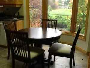 Solid birch dining set by canadel