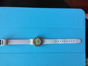 Swatch Watch in light pink