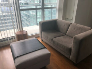 Sofa & Ottoman (selling individually or as a set)