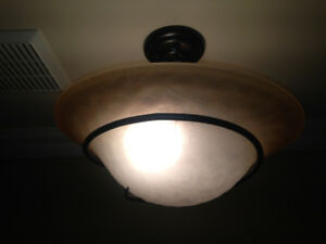 Drop-Down Flush-Mount Ceiling Light Fixture