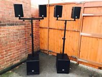 LD Systems 700watt Powered Speaker System with Sub - Buy One Get One Free!!
