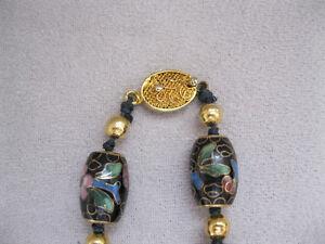 Cloisonne black necklace - Collier noir en cloisonne West Island Greater Montréal image 3