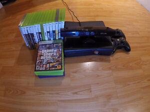 XBOX 360 Slim avec Kinect et 21 Jeux
