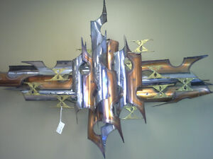 Two Totally Awesome Metal Art wall hangings.. for sale..