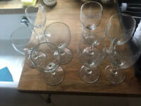 Various wine glasses 13 in total £10