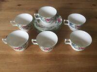 Flora Dora Cups and Saucers