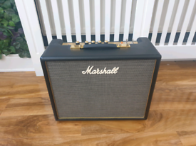 Marshall origin 5 valve guitar amp and footswitch