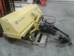 Front mount sweeper broom
