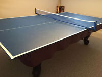 NEW Table Tennis/Beer Pong Pool Table Conversion w/Net