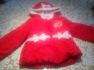 MANTEAU MINNIE-MOUSE - TAILLE 4T