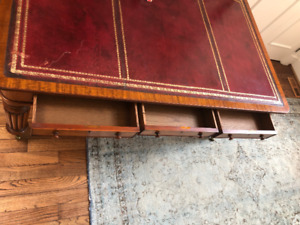 Antique Leather topped Desk