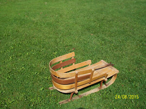Vintage Wooden Childs Sleigh Cornwall Ontario image 1