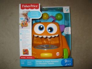 Fisher Price Zoom N' Crawl Monster Baby Toy (Brand New In Box)