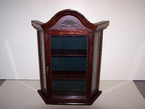GREG'S ANTIQUES and  COLLECTABLES - CURIO CABINET (small)