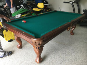 Canadian slate and walnut pool table