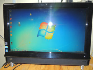 "HP TouchSmart 9100 All In One(23"")4gb,320GB,Win 7-64,Wifi,DVDRW"