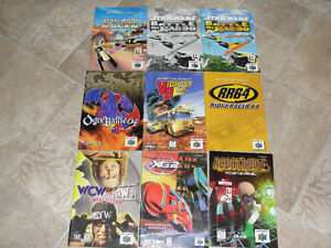Game book Manuals (N64 gameboy super nintendo )