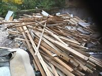 Free wood. Bonfire night soon