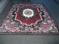 Roes flowering design pattern floor rug
