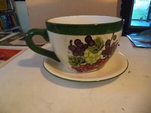 LARGE 10INCH CUP/SAUCER FRUIT BOWL OR PLANTER Windsor Region Ontario image 1
